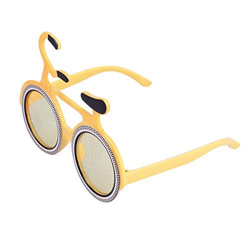 BESTOYARD Party Sonnenbrille Fahrrad Form Neuheit Lustige Brille für Maskerade Trick Party Kostüm Requisiten