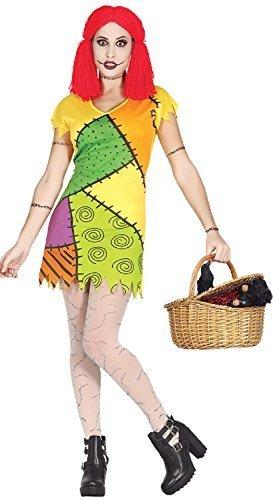 aum Stoffpuppe Patchwork gebbrochen TV Buch Film Halloween Horror unheimlich Kostüm Kleid Outfit - UK 8-10 (Unheimliche Halloween Kostüme Uk)