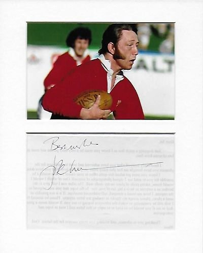 Rugby Union - Wales - J. P. R. Williams Genuine Authentic Hand Autogramm AFTAL COA