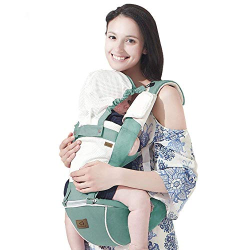 8d6499b497b Bebamour Hipseat Baby Carrier Backpack 5 in 1 Carry Ways Carrier Sling  (Light Green)