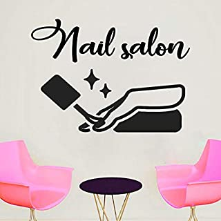 Nagelstudio Wandaufkleber Kunstwand Beauty Salon Decor Decor Weibliche Mädchen Schlafzimmer Art Deco Design Wandbild