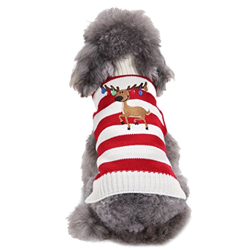 LvRao Welpe Hund Katze Strickpullover Sweater Rollkragen