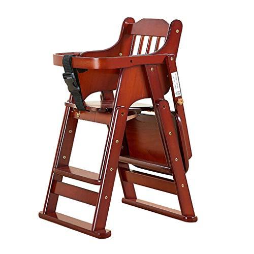 Bois Pliable Chaises Hautes Chaise de Salle à Manger pour bébé Siège bébé Table à Manger Tabouret Bébé Chaise de Salle à Manger pour Enfants Multifonctionnel Portable télescopique Chaise d'enfant