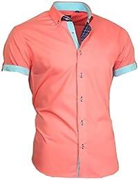 Louis Binder de Luxe Herren Hemd Shirt modern fit Kurzarm  Button-Down-Kragen 833 e2a988715a