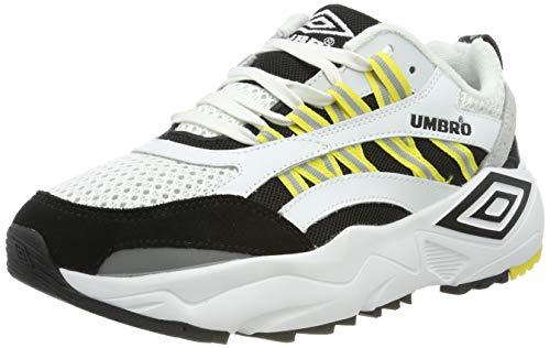 Umbro Neptune, Zapatillas Deporte Hombre, Blanco Black/Yellow/Grey