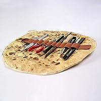 quanju cheer Lifelike Sesame Seed Cake Roll Pancake Pencil Case Pen Stationery Storage BagStudent Supplies