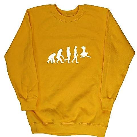 HippoWarehouse - Sweat-shirt - Fille - jaune - 6 ans