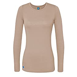 Adar Uniforms Underscrub Medical Long Sleeve Tee For Women - Color Kki | Size: M