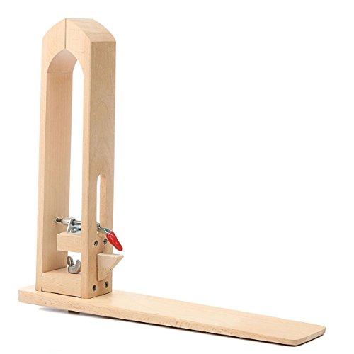 Edelstahl Frei Stehend Unten (UNIQUEBELLA Leder nähen Werkzeug Holz Halteclip Behandlungen Crafts DIY N?hen Schnürsystem Nähkloben Nähpferd Basic zum festhalten des Leders beim Ledernähen)