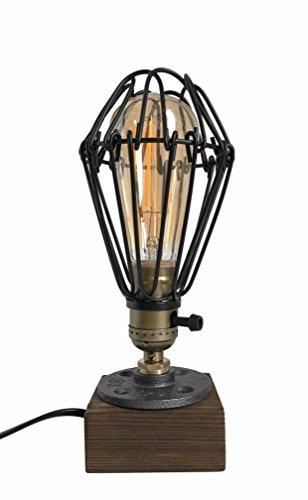 Icase4u Industrial Antigua Edison Bombilla Lámpara Loft Vintage Retro Lampara de mesa Regulable Lámpara...