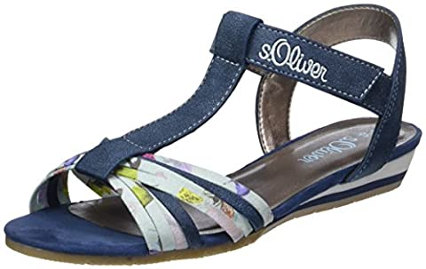 s.Oliver Mädchen 58215 T-Spange, Blau (Navy Comb. 891), 38 EU