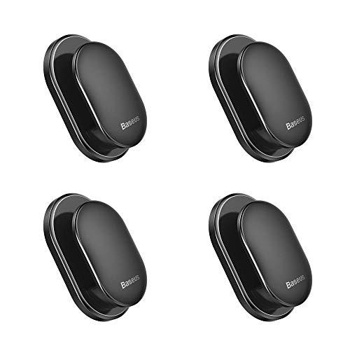 MOGOI 4 Stück Haken für Autositz, multifunktional, Kleiner Haken - Kreative Autositzleiste, kleine Haken - Schwarz