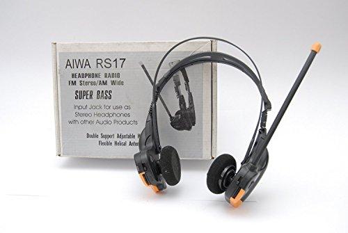 Aiwa Radical hr-rs17Kopfhörer Radio FM Stereo Bin breit Super Bass-Input-Jack für den Einsatz als Stereo-Kopfhörer mit anderen Audio Produkte. RARE. Aiwa Stereo
