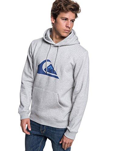 Quiksilver Herren Big Logo Fleece Top, Light Grey Heather, S
