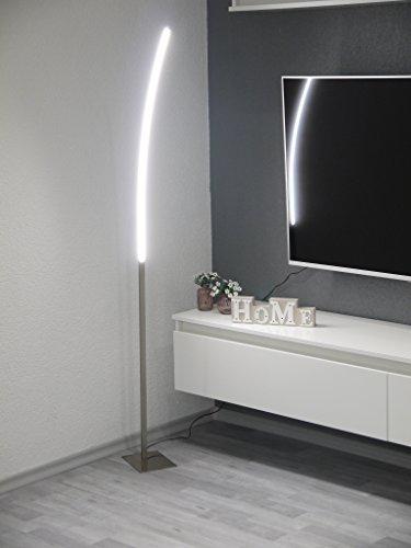 LED Wohnraumleuchte Stehleuchte Elina Fluter Bogenleuche Nickel Standleuchte LED 12W 960lm 3000K