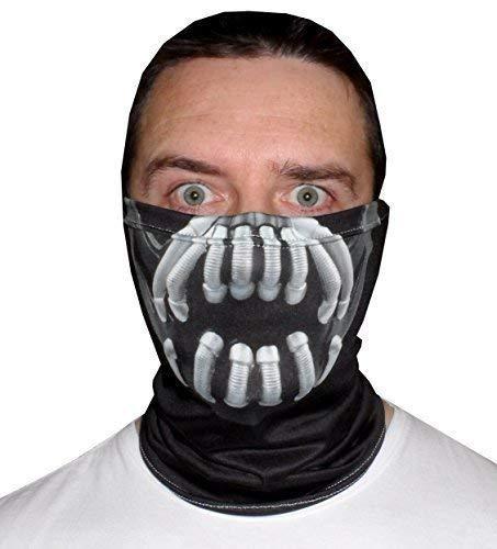 L&S PRINTS FOAM DESIGNS Horror Halloween Face Design Snood Necktube Gesichtsmaske Neckwarmer tolle Hirsch Party Zubehör