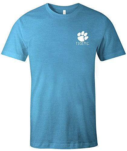 Image One NCAA Clemson Tigers NCAA Azteken-T-Shirt, quadratisch, kurzärmelig, Triblast, Größe L, Aqua Clemson University Baseball