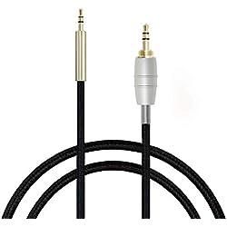 Câble d'extension audio de remplacement pour casque Bose QuietComfort 15,QC15,QC25,QC35,BOse OE2,OE2i, SoundTrue Around-Ear, Around-Ear 2,AE2,AE2i, AE2W - Par Micity 1.2m