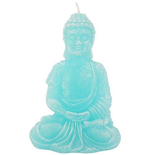 Something Different Vela con Forma de Buddha Sentado en Color Turquesa (Talla Única/Azul)