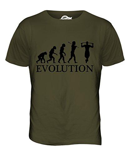 CandyMix Klimmzug Evolution Des Menschen Herren T Shirt Khaki Grün
