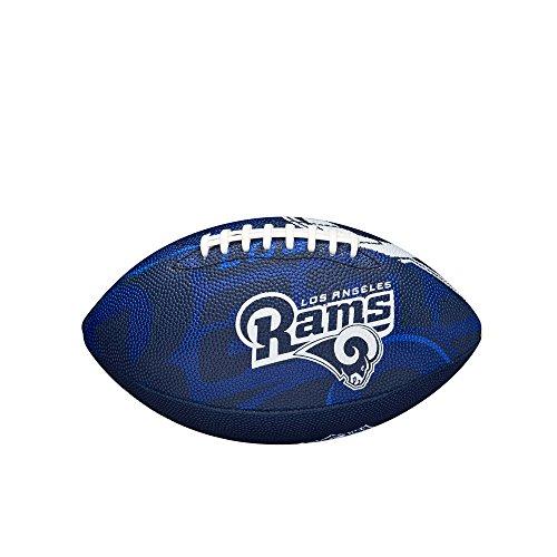 Wilson Logotipo del Equipo de f/útbol tama/ño Football-los Angeles RAMS Junior Azul