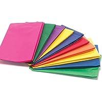Papel de seda multicolor, para envolver regalos, de 50 x 76 cm, pack de 50 unidades