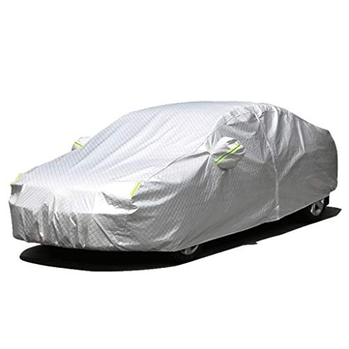 JLZS-Car Covers Couverture de Voiture Convient pour Film en Aluminium de Couverture de Voiture de Toyota Land Cruiser Grands vêtements de Voiture carrés (Couleur : Silver, Taille : Land Cruiser)