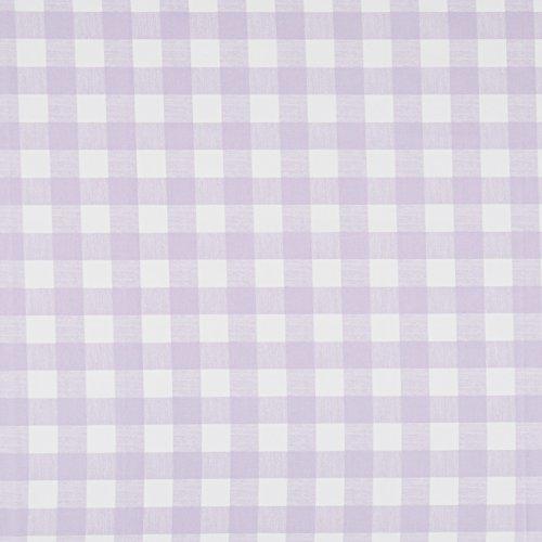 Vinylla Carreaux Vichy Lilas Coton enduit de vinyle Nappe en toile cirée facile à nettoyer, lilas, 140 x 240 cm