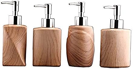 Max Home. Wooden Ciramic Soap Dispenser Bathroom Accessories Bath Set