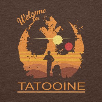 TEXLAB - Welcome to Tatooine - Damen T-Shirt Braun