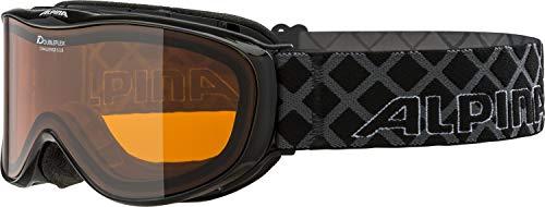 Alpina Skibrille Challenge S 2.0 DH Black transparent, One Size -