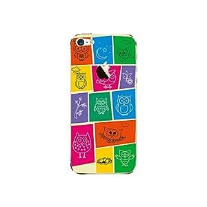 ezyPRNT Back Skin Sticker For Apple iPhone 5/5S Doodle Art collage Owl