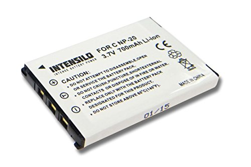 Casio-digital-kamera-akku (INTENSILO Li-Ion Akku 700mAh (3.7V) für Kamera Camcorder Video Casio Exilim EX-Z60, EX-Z65, EX-Z70, EX-Z75, EX-Z77, EX-Z770, EX-Z8 wie NP-20.)