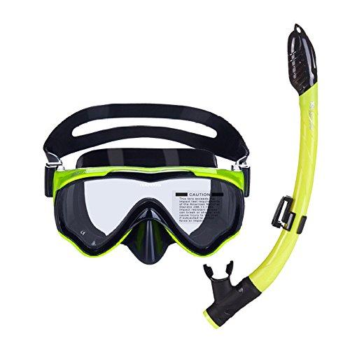 LBAFS Lunettes De Natation Scuba Snorkel Set pour Enfants Masque De Plongée Complètement Sec Respirez Anti-Fog Anti-Fuite (Convient Aux Enfants De 4 à 10 Ans),D
