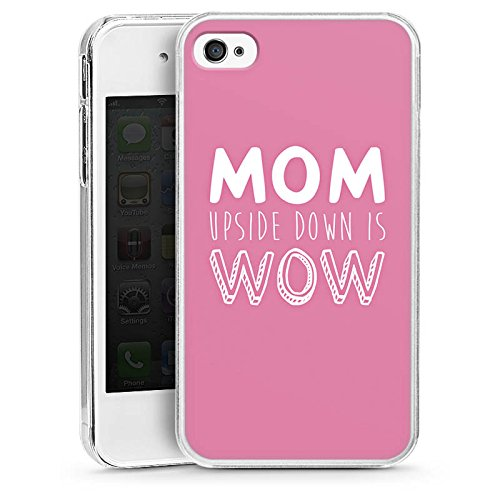 DeinDesign Hülle kompatibel mit Apple iPhone 4 Handyhülle Case Mum Mom Phrase