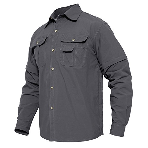41qgDauvE1L. SS500  - MAGCOMSEN Quick Dry Breathable Convertible Men's Long Sleeve Shirt for Hiking Work Military