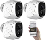 VisorTech Kameras: 3er-Set IP-HD-Überwachungskameras mit App, IP65, bis 6 Monate Laufzeit (Aussenkameras)
