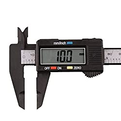 Specifications:  Measuring range: 0-150 mm/ 0-6 inch. Resolution: 0.1mm/ 0.01 in.  Repeatability: 0.1mm/ 0.01 in.  Accuracy: + 0.2 mm/ 0.01 in  Maximum measurement speed: 1m/s  Power: 1 x 1.5V SR44 (silver oxide cell) battery (included)  Bat...