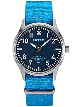 Pop-Pilot Unisex-Armbanduhr KIX Analog Quarz Nylon P4260362630062