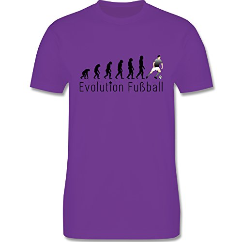Evolution - Fußball Evolution - Herren Premium T-Shirt Lila