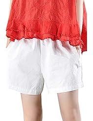 Y56(TM) Pantalones Cortos Sueltos con Bolsillos para Mujer