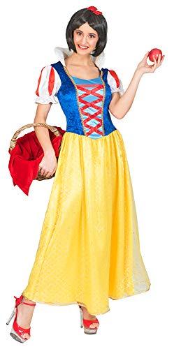 Funny Fashion Schneewittchen Kostüm für Damen - Lang Gr. 40/42
