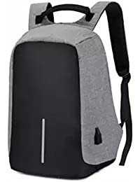 BlueLife Anti-Theft Canvas 15.6-inch Laptop Backpack with USB Charging 43b7ca7194