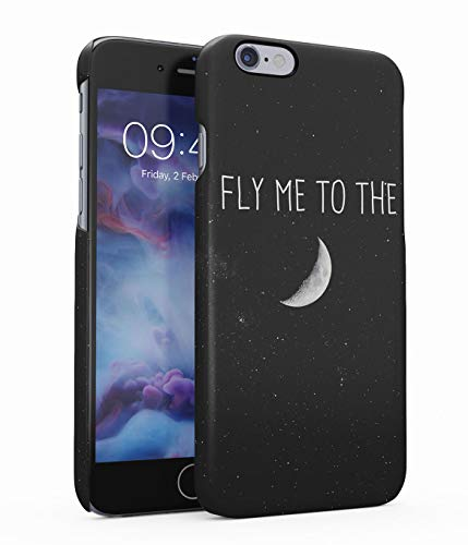 Hülle Hardcase Kompatibel mit iPhone 6 Plus / 6s Plus Fly Me to The Moon Galaxis Kosmos Mond Universum Sterne Space Stars Sky Galaxy Planet Solar System Quote Zitat eng Anliegendes Dünnes Handyhülle (Ausschnitte Solar Planet System)