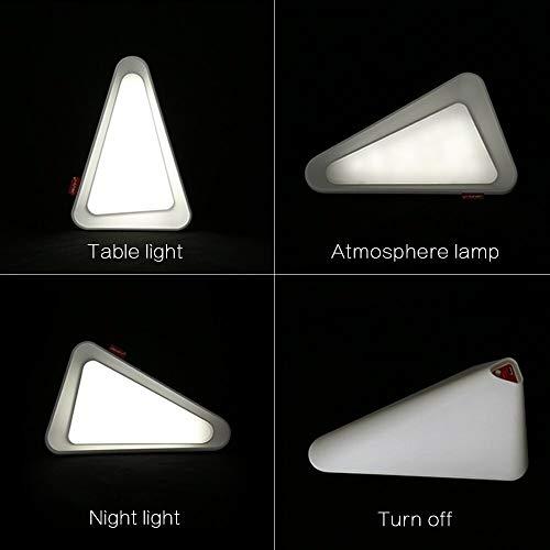 FGHHT Nachtlicht Flip Schalter Kontrolle LED NachtlichtAtmosphäre wiederaufladbare Schwerkraft Winkelsensor Licht White & Yellow Home Decor Tischleuchte -
