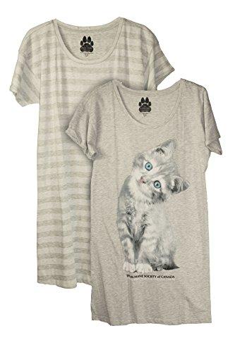Humane Society of Canada Damen Schlafanzug, 2 Stück - Grau - Large