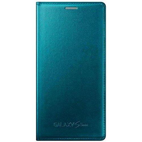 Samsung Flip Hülle für Samsung Galaxy S5 Mini metallic-grün (S5 Entsperrt Mini)