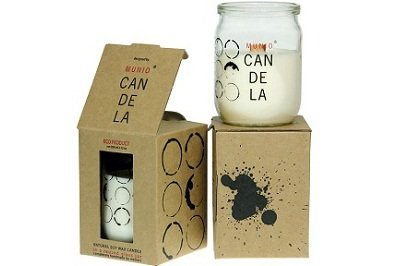 Ginger Tango Soy Wax Candle In Glass Jar by Munio Candela