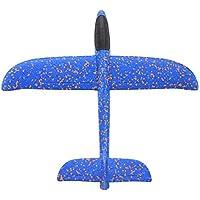 Libertroy Avión de Mano Avión Espuma Planeador Espuma de Color Avión de Remolino Modelo para niños Avión Infantil - Azul