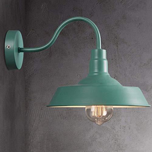 Scheune Metall (Kunstbeleuchtung Vintage Wandleuchte Wandlampe Hängelampe Deckenlampe Pendelleuchte Metall E27 Kappe for Balkon Loft Scheune Küche Grün)